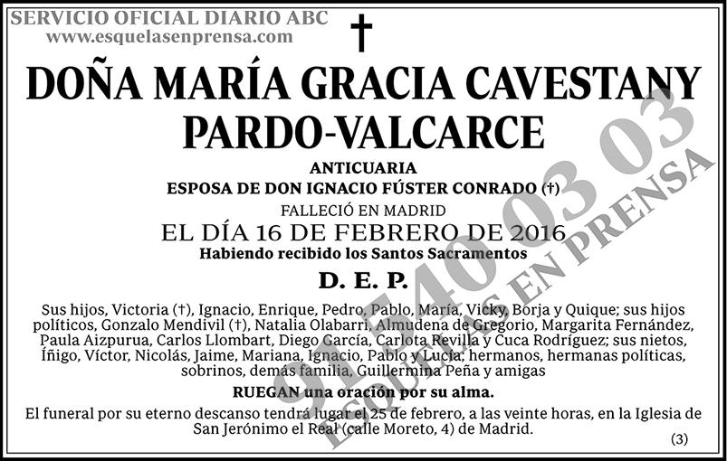 María Gracia Cavestany Pardo-Valcarce